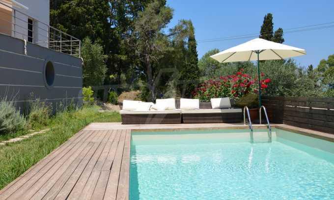 Moderne Villa in Benitses auf Korfu, 80 m vom Meer entfernt 1