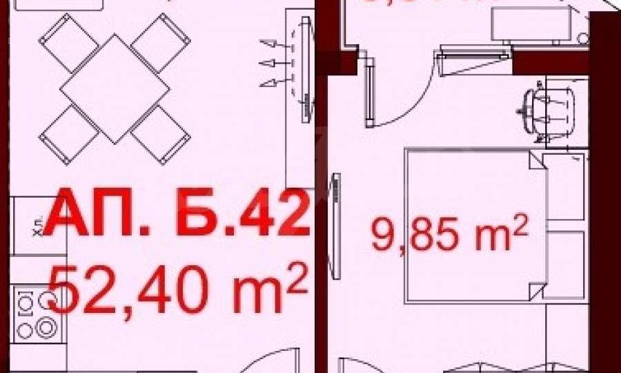 2-Raum-Apartment mit Stellplatz im neu zu bauenden modernen Komplex in Burgas 14