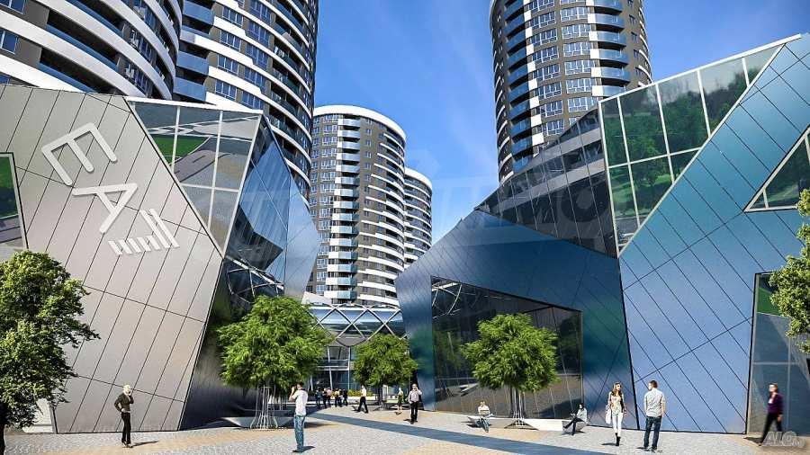 2-Raum-Apartment mit Stellplatz im neu zu bauenden modernen Komplex in Burgas 1