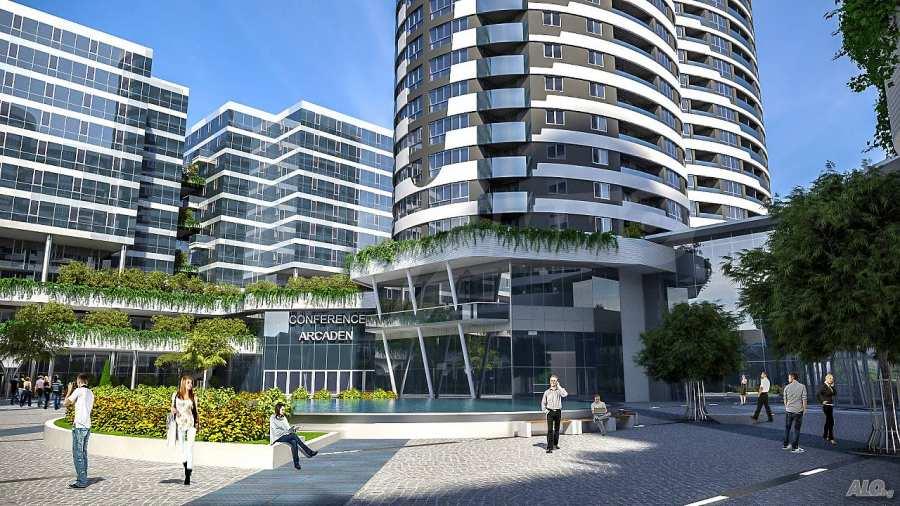 2-Raum-Apartment mit Stellplatz im neu zu bauenden modernen Komplex in Burgas 2