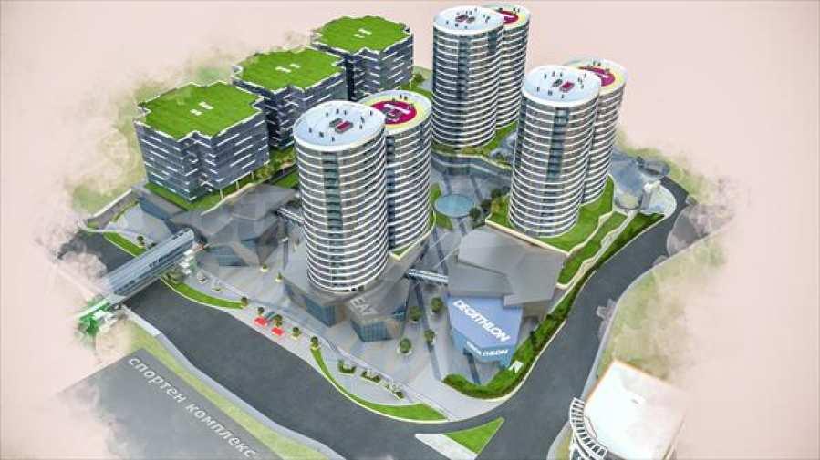 2-Raum-Apartment mit Stellplatz im neu zu bauenden modernen Komplex in Burgas 7