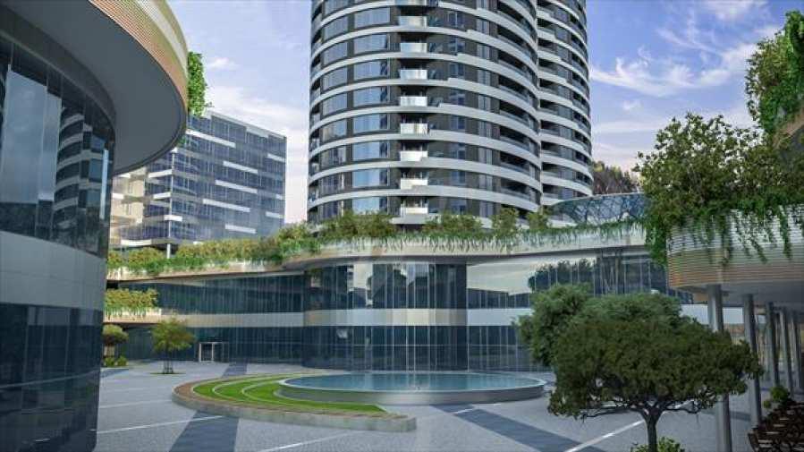 2-Raum-Apartment mit Stellplatz im neu zu bauenden modernen Komplex in Burgas 10