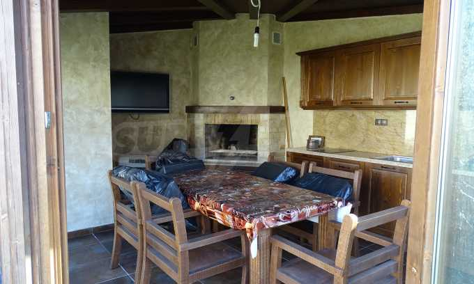 Furnished house with large yard and barbecue area in Krichim 9