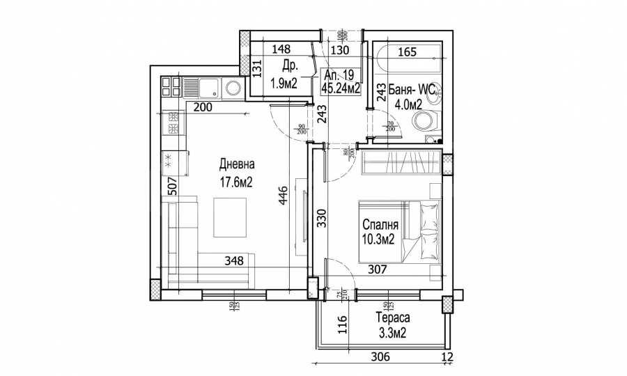 2-Raum-Apartment im Gebäude mit einer modernen Architektur und in einer hervorragenden Lage im Stt. Levski in Varna 5