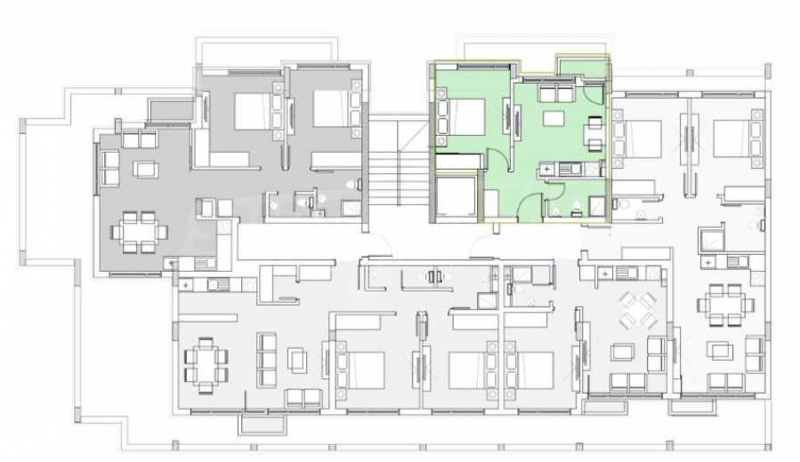 Двустаен апартамент в затворен комплекс до МОЛ Парадайс 4