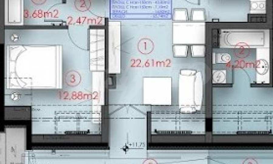 Ein-Zimmer-Wohnung in einem Neubau im Herzen von Vitosha. 4