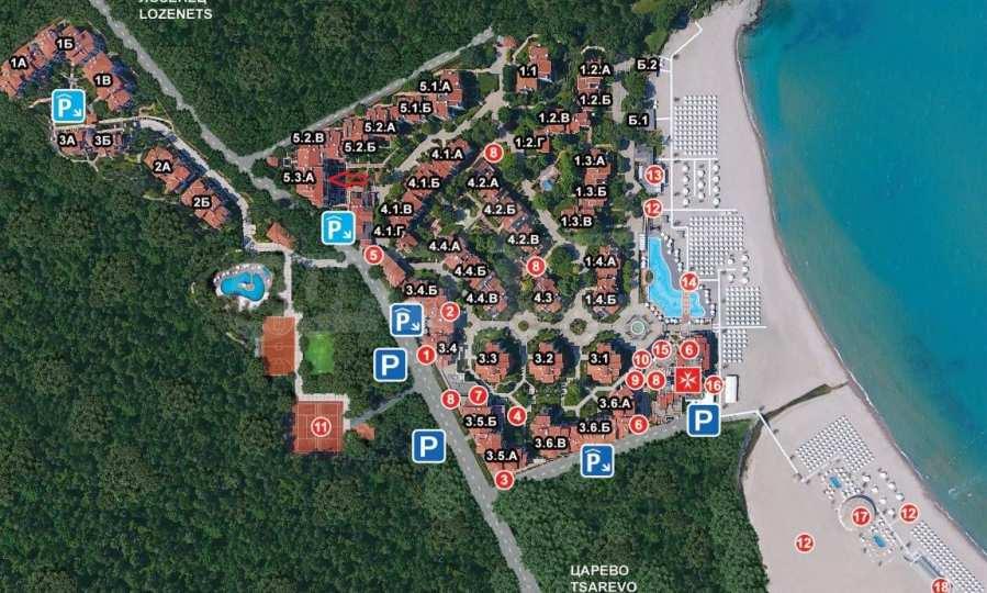 Двустаен апартамент в крайбрежен комплекс до плаж Оазис 19